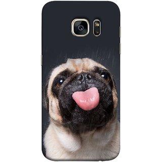 FUSON Designer Back Case Cover for Samsung Galaxy S7 Edge :: Samsung Galaxy S7 Edge Duos :: Samsung Galaxy S7 Edge G935F G935 G935Fd  (Kissing Hanging Out Black And White Cream Colour)