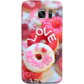FUSON Designer Back Case Cover for Samsung Galaxy S7 :: Samsung Galaxy S7 Duos :: Samsung Galaxy S7 G930F G930 G930Fd (I Love Candy Chocolate Marshmallo Colourful Child)