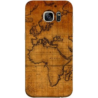 FUSON Designer Back Case Cover for Samsung Galaxy S7 Edge :: Samsung Galaxy S7 Edge Duos :: Samsung Galaxy S7 Edge G935F G935 G935Fd  (World Map Altitude And Longitude Countries India )