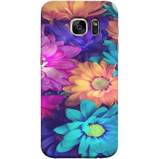 FUSON Designer Back Case Cover for Samsung Galaxy S7 Edge :: Samsung Galaxy S7 Edge Duos :: Samsung Galaxy S7 Edge G935F G935 G935Fd  (Fresh Wow Hd Gerbera Flowers Pink Blur Orange)