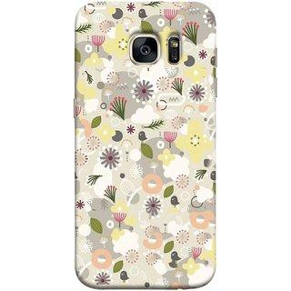 FUSON Designer Back Case Cover for Samsung Galaxy S7 Edge :: Samsung Galaxy S7 Edge Duos :: Samsung Galaxy S7 Edge G935F G935 G935Fd  (Elegant Gentle Trendy Pattern In Small Scale Flower)