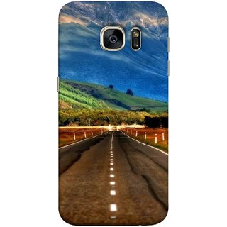 FUSON Designer Back Case Cover for Samsung Galaxy S7 Edge :: Samsung Galaxy S7 Edge Duos :: Samsung Galaxy S7 Edge G935F G935 G935Fd  (Scenic Road And Beautiful Mountains Highway Nature)