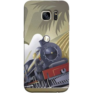 FUSON Designer Back Case Cover for Samsung Galaxy S7 Edge :: Samsung Galaxy S7 Edge Duos :: Samsung Galaxy S7 Edge G935F G935 G935Fd  (British Steam Engine Trains Express Mail )