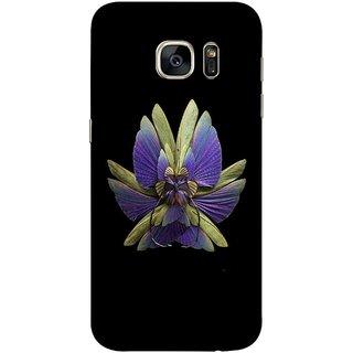 FUSON Designer Back Case Cover for Samsung Galaxy S7 Edge :: Samsung Galaxy S7 Edge Duos :: Samsung Galaxy S7 Edge G935F G935 G935Fd  (Blue Prange Pink Multicolor Pink Flowers Patterns)