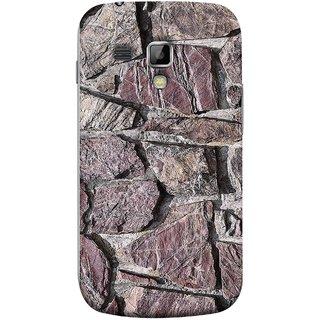 FUSON Designer Back Case Cover for Samsung Galaxy S Duos S7562 (Sandstone Bricks Of Irregular Shapes Slotting Together )