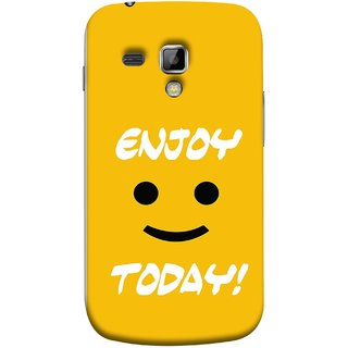 FUSON Designer Back Case Cover for Samsung Galaxy S Duos S7562 (Big Smiley Smiling Positive Wallpaper Back Cover)