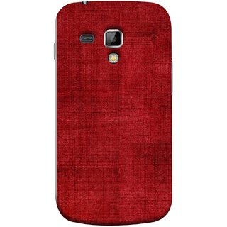 FUSON Designer Back Case Cover for Samsung Galaxy S Duos S7562 (Cloth Design Dark Red Maroon Paper Sheet Bloody)