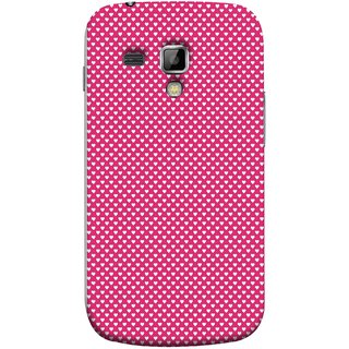 FUSON Designer Back Case Cover for Samsung Galaxy S Duos S7562 (Valentine Pink Metallic Hearts Cool Peace Sign Symbol)