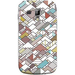 FUSON Designer Back Case Cover for Samsung Galaxy S Duos S7562 (Watercolor Horizontal Vertical Vector Lines Colourful)