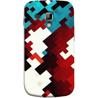 FUSON Designer Back Case Cover for Samsung Galaxy S Duos S7562 (Beautiful Mobile Wallpaper Bright Design Red Blue )