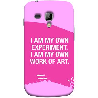 FUSON Designer Back Case Cover for Samsung Galaxy S Duos S7562 (I Am My Own Work Of Art Madonna Ciccone Quotes)