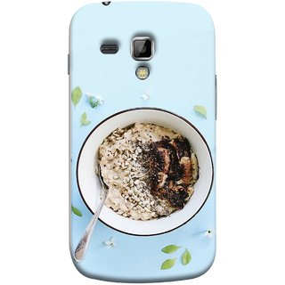 FUSON Designer Back Case Cover for Samsung Galaxy S Duos S7562 (Bowl Of Breakfast Cereal With Milk And Spoon)