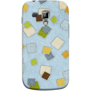 FUSON Designer Back Case Cover for Samsung Galaxy S Duos 2 S7582 :: Samsung Galaxy Trend Plus S7580 (Lot Colours Squares Patch Tiles Brown White Checks )