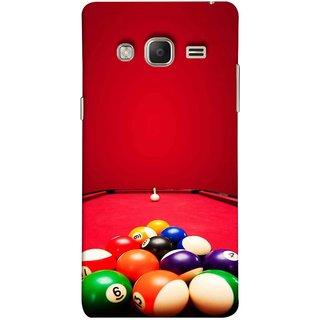 FUSON Designer Back Case Cover for Samsung Galaxy Z3 Tizen :: Samsung Z3 Corporate Edition (Billards Pool Game Color Balls In Triangle Aiming)