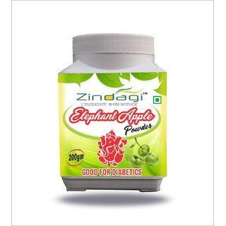 Zindagi Elephant Apple - Natural Shugar Apple Powder - Pure Health Supplement (200gm)