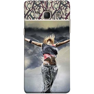 FUSON Designer Back Case Cover for Samsung Galaxy Z3 Tizen :: Samsung Z3 Corporate Edition (Beautiful Female Standing Relaxing Enjoying Moment)