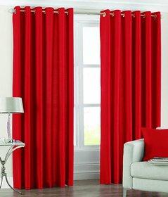 R Trendz Crush Plain Door Curtain Set Of 2