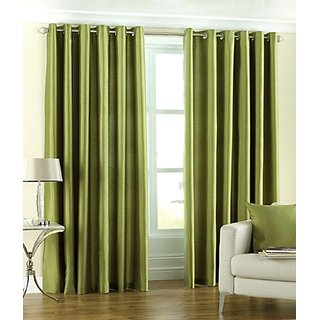 S Trendz Crush Plain Single Door Curtain
