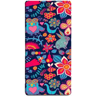 FUSON Designer Back Case Cover for Sony Xperia C5 Ultra Dual :: Sony Xperia C5 E5533 E5563 (Blue Background Leaves Farm Fruits Food Honey Bee)