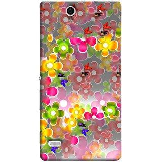 FUSON Designer Back Case Cover for Sony Xperia C4 Dual :: Sony Xperia C4 Dual E5333 E5343 E5363 (Butterflies Garden Trees Stars Bright Best Wallpaper)