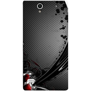 FUSON Designer Back Case Cover for Sony Xperia C4 Dual :: Sony Xperia C4 Dual E5333 E5343 E5363 (Red Bubbles Unique Whimsical Fantasy Fine Art Spots)