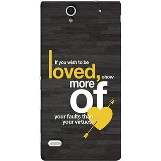 FUSON Designer Back Case Cover for Sony Xperia C4 Dual :: Sony Xperia C4 Dual E5333 E5343 E5363 (Broken Heart Arrow Quotes Show More Your)