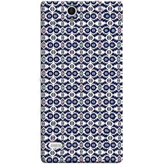 FUSON Designer Back Case Cover for Sony Xperia C4 Dual :: Sony Xperia C4 Dual E5333 E5343 E5363 (Watercolor Hand Painted Blue Indigo Boho Pattern)