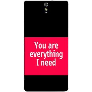 FUSON Designer Back Case Cover for Sony Xperia C5 Ultra Dual :: Sony Xperia C5 E5533 E5563 (Tu Tum Aap Mere Liye Sub Kuch Maze Vishwa )