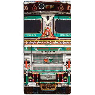 FUSON Designer Back Case Cover for Sony Xperia C4 Dual :: Sony Xperia C4 Dual E5333 E5343 E5363 (India Goods Lorry Decorated Indian Tata Truck)