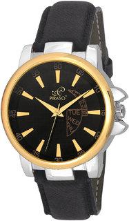 PIRASO 9131 Hot Black  Gold Decker Analog Watch - For Men
