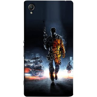 FUSON Designer Back Case Cover for Sony Xperia C6 Ultra Dual (Army War Secret Missions Country Saver Fighter )
