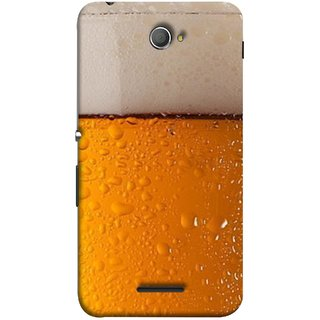 FUSON Designer Back Case Cover for Sony Xperia E4 :: Sony Xperia E4 Dual (Cold Chilled Beer Glass Tub Pint Bubbles Full)