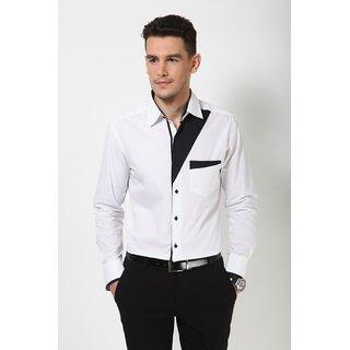 Dazzio Men's White Smart Casual Shirt - Option 15