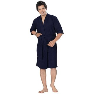 Imported Men Bath Gown Robe (Navy Blue Full)