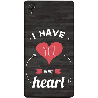 FUSON Designer Back Case Cover for Sony Xperia C6 Ultra Dual (Love Circle Life Long You Always In My Hearts)