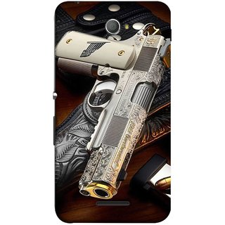 FUSON Designer Back Case Cover for Sony Xperia E4 :: Sony Xperia E4 Dual (Gun Pouch Holder Loading Bullets Killing Murders )