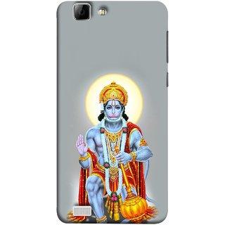 FUSON Designer Back Case Cover for Vivo V1 (Hanuman Gadadhari Bajrangi Vayuputra Lord Chalisa)