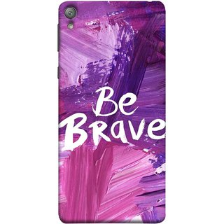 FUSON Designer Back Case Cover for Sony Xperia E5 Dual :: Sony Xperia E5 (Be Strong Always Face Issues Bravery Painting )