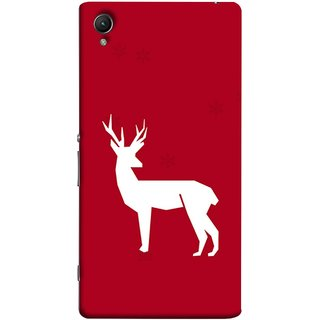 FUSON Designer Back Case Cover for Sony Xperia C6 Ultra Dual (Illustration Silhouette Majestic Standing Reindeer)