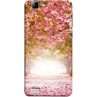 FUSON Designer Back Case Cover for Vivo V1 (Best Road To Walk Flowers Fresh Sunshine Sunny Day )