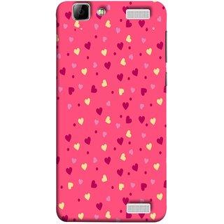 FUSON Designer Back Case Cover for Vivo V1 Max (Valentine Pink Metallic Cool Peace Sign Symbol Pillow)