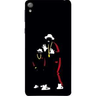 FUSON Designer Back Case Cover for Sony Xperia E5 Dual :: Sony Xperia E5 (Ultraviolet Light White Shoes Posing Spects Gold )