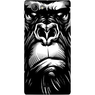 FUSON Designer Back Case Cover for Sony Xperia J :: Sony Xperia J ST26i :: Sony Xperia J ST26a (Animal Background Open Ears Black Hairs Jungle Nose)