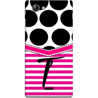 FUSON Designer Back Case Cover for Sony Xperia J :: Sony Xperia J ST26i :: Sony Xperia J ST26a (Beautiful Cute Nice Couples Pink Design Paper Girly T)