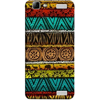 FUSON Designer Back Case Cover for Vivo V1 Max (Patterns Horizontal Stripes Bedsheet Design Cloths)