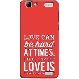 FUSON Designer Back Case Cover for Vivo V1 Max (Love Is Worth The Effort Pure Lovers Hearts)