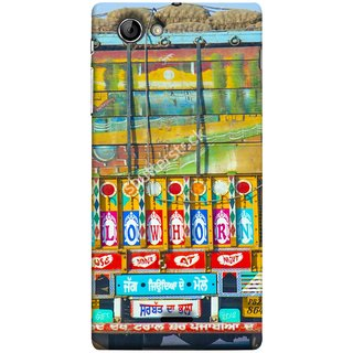 FUSON Designer Back Case Cover for Sony Xperia J :: Sony Xperia J ST26i :: Sony Xperia J ST26a (Decorated Goods Carrier On Indian Road Stop Dil Tera)