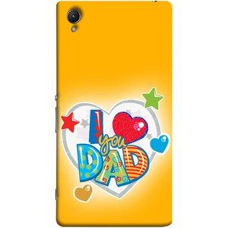 FUSON Designer Back Case Cover for Sony Xperia M4 Aqua :: Sony Xperia M4 Aqua Dual (Daddy Father Stars Heart Colourful Lovely Family)