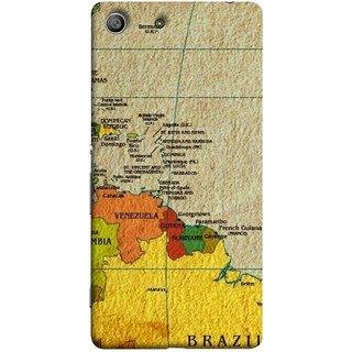 FUSON Designer Back Case Cover for Sony Xperia M5 Dual :: Sony Xperia M5 E5633 E5643 E5663 (Altitude And Longitude Columbus World Countries )
