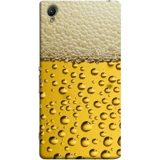 FUSON Designer Back Case Cover for Sony Xperia M4 Aqua :: Sony Xperia M4 Aqua Dual (Party Friendship Yaro Ki Mahfil Cold Chilled Beer Glass )